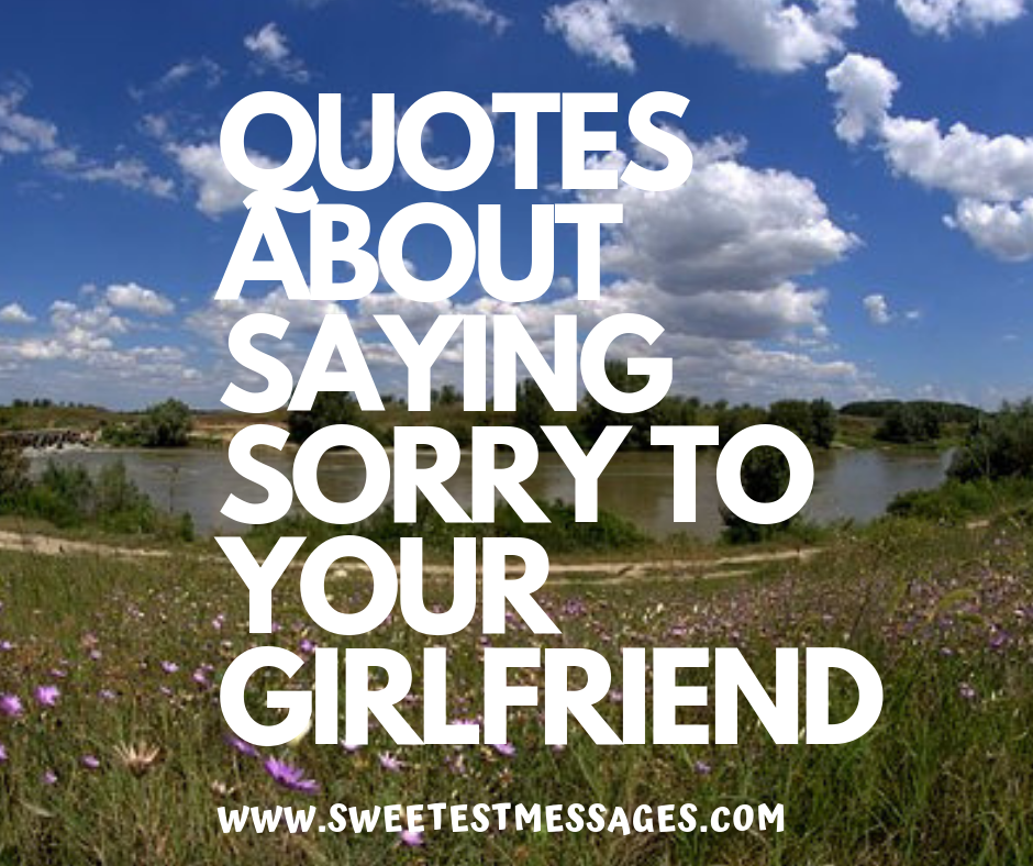 50 Cute Quotes About Saying Sorry To Your Girlfriend Or ...