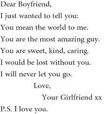 Sweet Things To Write To Your Boyfriend In A Letter