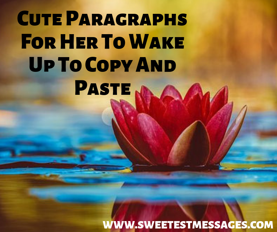 30 Cute Paragraphs For Her To Wake Up To Copy And Paste