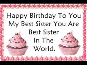 Pleasant 55 Happy Birthday Wishes For My Cute Sister Sweetest Messages Personalised Birthday Cards Beptaeletsinfo