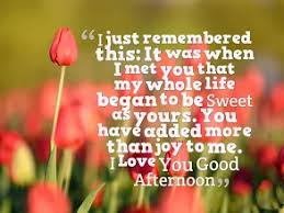 Good Afternoon Sms For Girlfriend