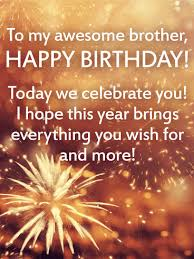 Birthday Message To A Brother